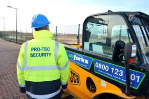 Manned guard on site patrol